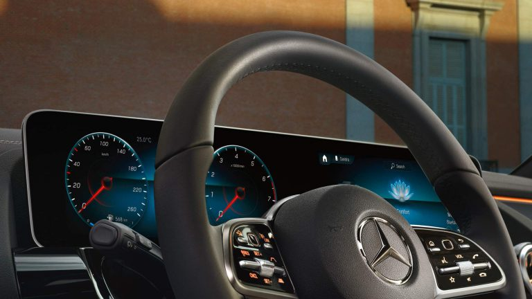 Widescreen Cockpit with MBUX infotainment system